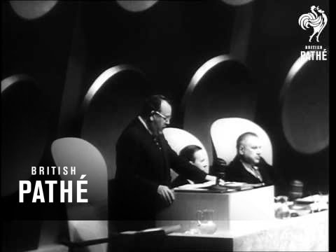 Trygve Lie Resigns (1952) Unissued / Unused material. Title - 'Trygve Lie resigns!'. Trygve Lie, Secretary-General of United Nations Organisation, resigns. New York, United States of ..., From YouTubeVideos