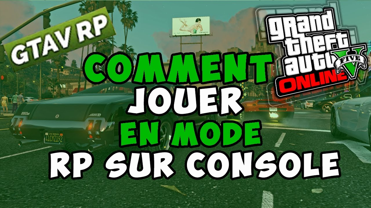 comment jouer a gta 5 rp sur ps4 xbox one exclu youtube. Black Bedroom Furniture Sets. Home Design Ideas