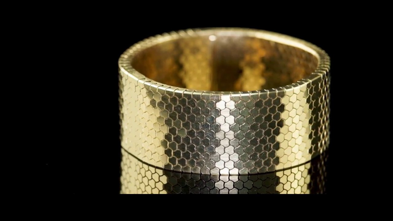 Cooksongold Makes 18ct Gold Bracelet Using 3D Printing Technology