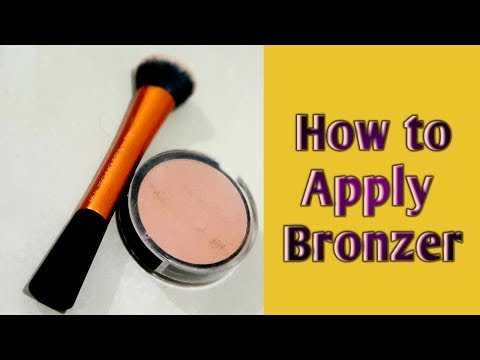 How to apply Bronzer for beginners
