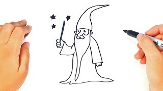 How to draw a Wizard Step by Step | Wizard Drawing Lesson