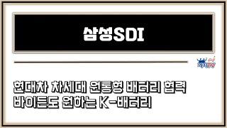 삼성SDI (가치TV 황철중 대표 4월 13일 실시간 …