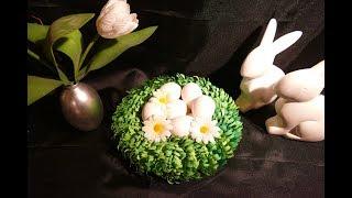 Frühlingskranz – spring wreath – Osterkranz/Osternest basteln - DIY Frühlingsdeko