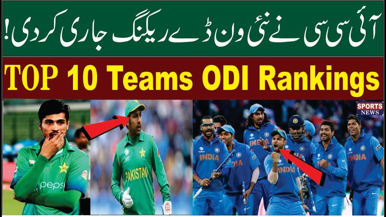 Icc Latest Odi Teams Rankings 2018 Icc Ranking List Top 10 Best Odi Team