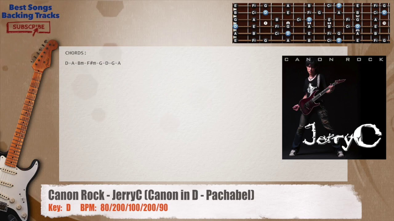 Canon Rock Jerryc Canon In D Pachabel Guitar Backing Track