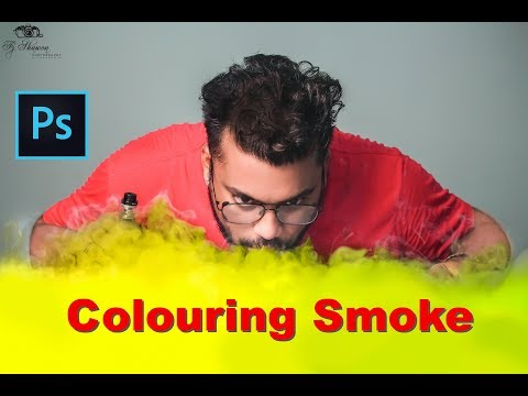 Colored Vape and Cigarette Smoke Effect - Photoshop cc Tutorial 2019 - FJ Shawon Editz thumbnail
