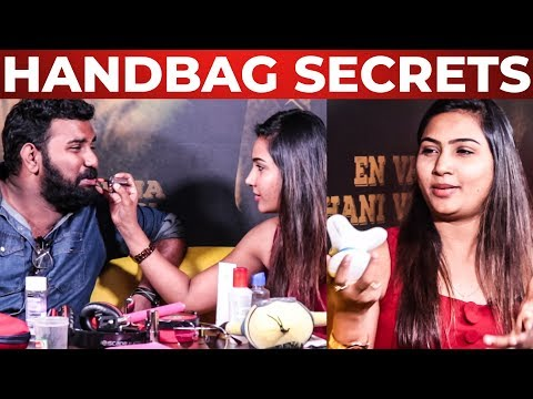 Myna Nandhini Handbag Secrets Revealed | Vijay Tv Serial Actress | What's Inside The HANDBAG
