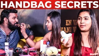 Myna Nandhini Handbag Secrets Revealed | Vijay Tv Serial Actress | What's Inside The HANDBAG