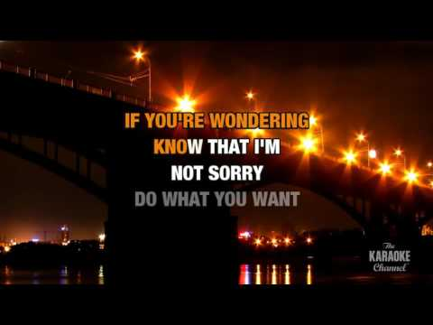 Do What U Want : Lady Gaga feat. Christina Aguilera | Karaoke with Lyrics