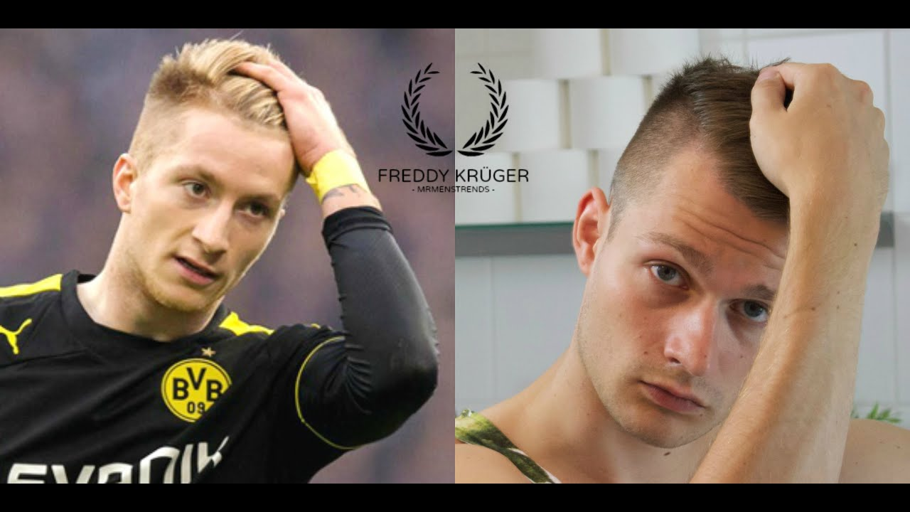 Marco Reus Hairstyle Tutorial Sidecut Youtube