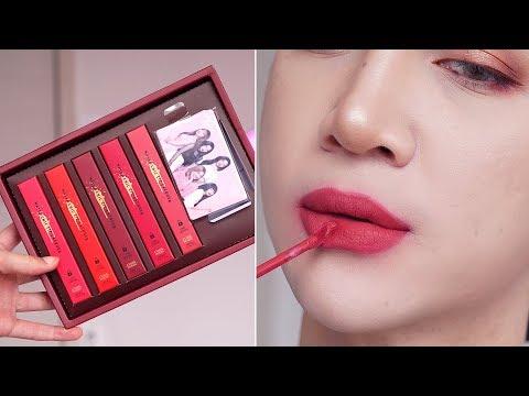 Red Velvet ✕ Etude House Matte Chic Lip Lacquer Review + Swatches - Edward Avila