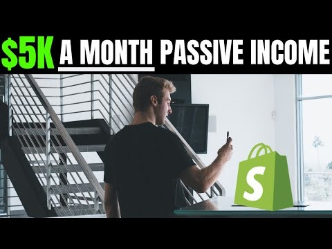 My Easy $5,000+ A Month PASSIVE Shopify Store INCOME