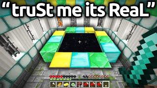 Worlds FUNNIEST FAKE Minecraft SPEEDRUNS...