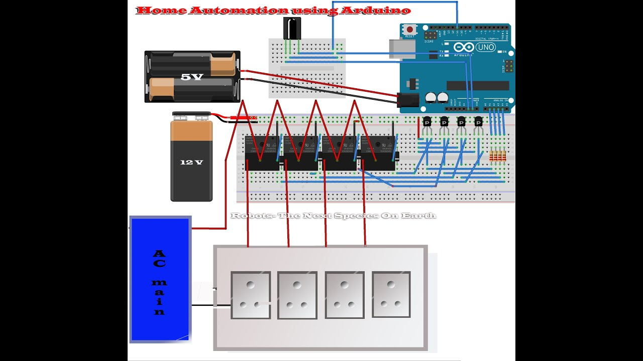 Home Automation Using Arduino Project Report 8 Channel Bluetooth Based Circuits4youcom Youtube