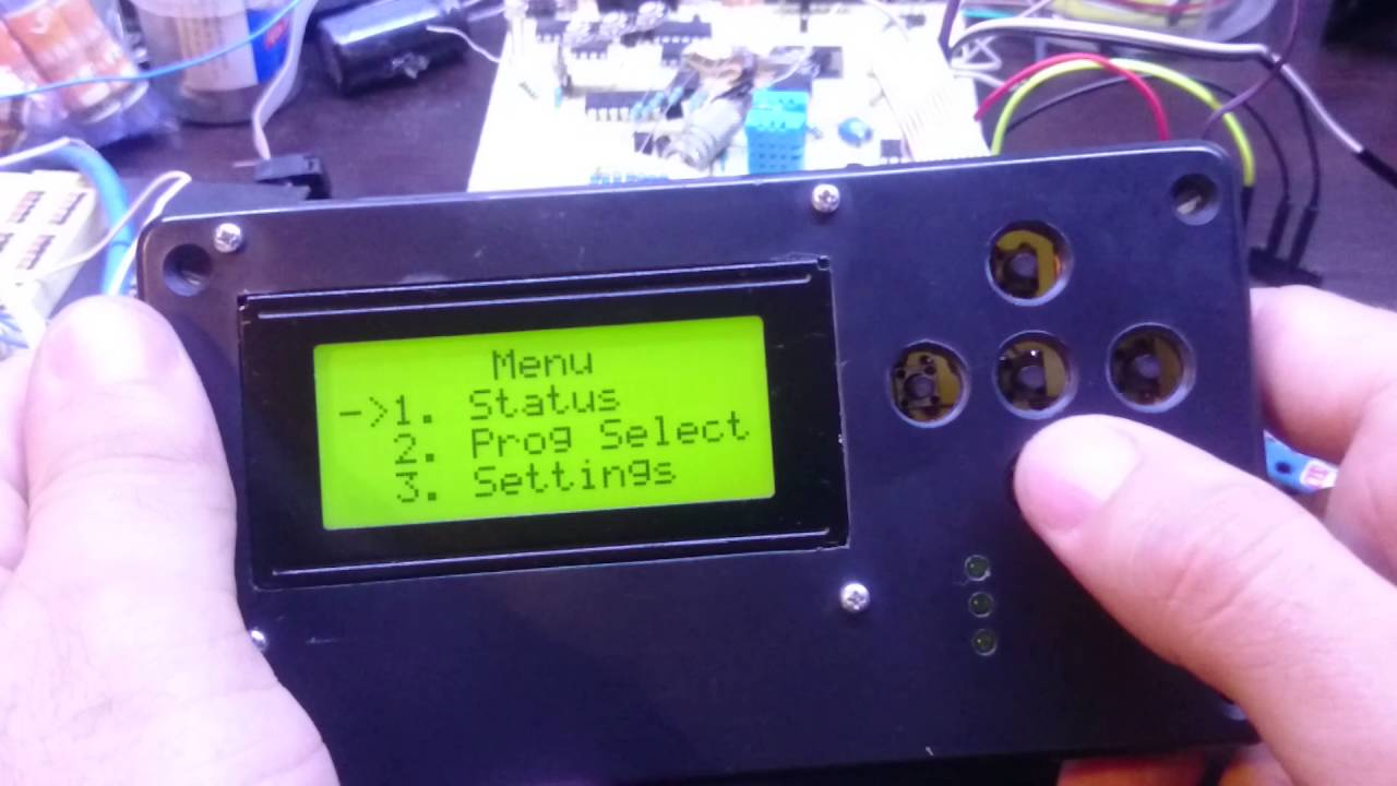 Arduino i c lcd display menu greenhouse monitoring
