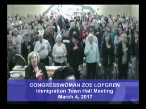 Zoe Lofgren Town Hall  - March 4, 2017