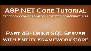Using sql server with entity framework core
