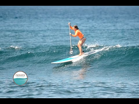Low and Compressed   Nosara Paddlesurf SUP Surf Coaching Video #6