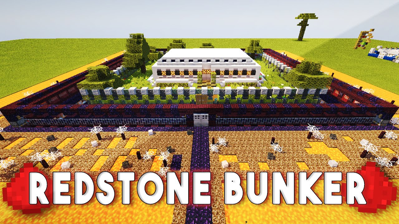 REDSTONE BUNKER (60+ Redstone Creations) - Most Defended House In Minecraft