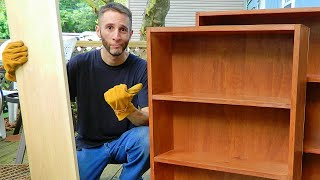 Fixit #9: Making bookcase, DVD rack, and CD tower. Cheaper, lighter, stronger than store furniture!