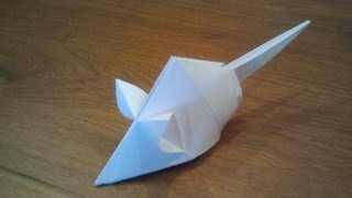 Paper: printer paper Size: 21cm x 21cm How To Make an Origami Mouse...