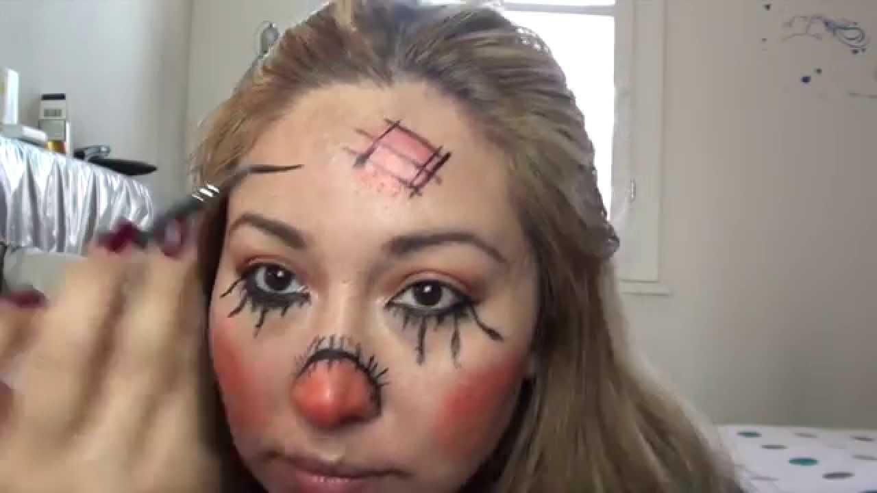 Halloween Vogelscheuche Make Up Youtube