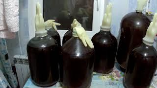 Вино из винограда Молдова,продолжение.Второе вино.