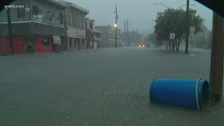 New Orleans streets flood as storms pass over
