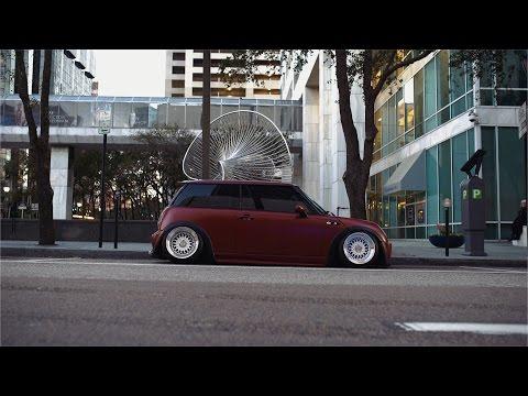 Slammed Mini Cooper S in downtown Tampa  4K