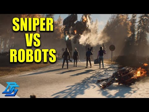TESTING THE SEMI AUTO SNIPER AGAINST ROBOTS  Generation Zero Gameplay Part 2 Beta