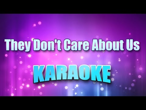 Jackson, Michael - They Don't Care About Us (Karaoke & Lyrics)