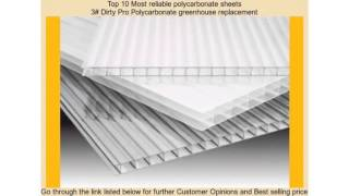 Top 10 Most reliable polycarbonate sheets