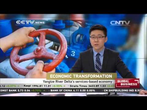 Yangtze River Delta's service-based economy