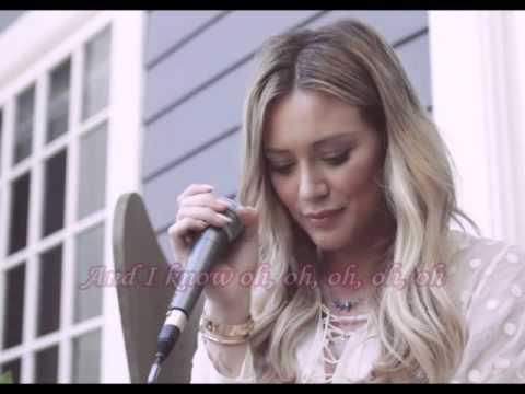 Hilary Duff - Tattoo (Acoustic) (Lyrics)