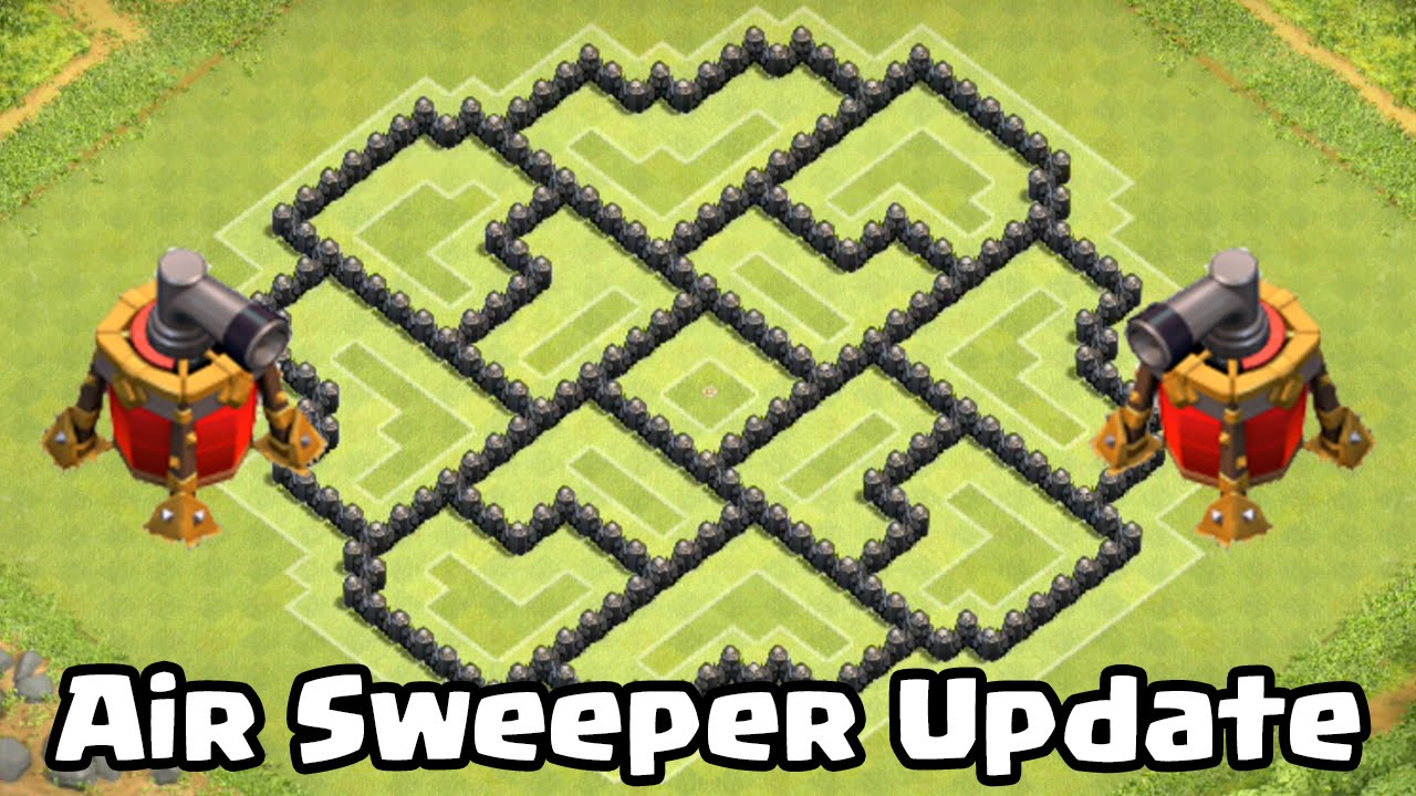 Clash of clans air sweeper th8 defense strategy best coc town hall 8