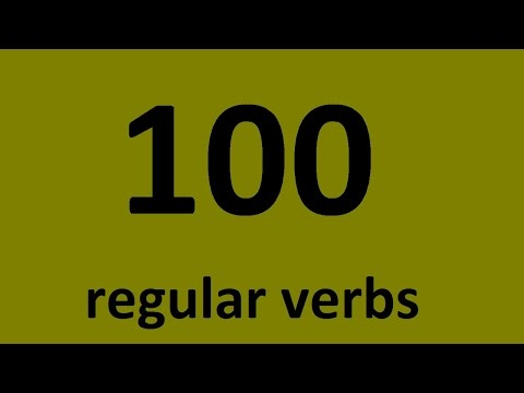 100 english verbs. List of common regular verbs in English with examples