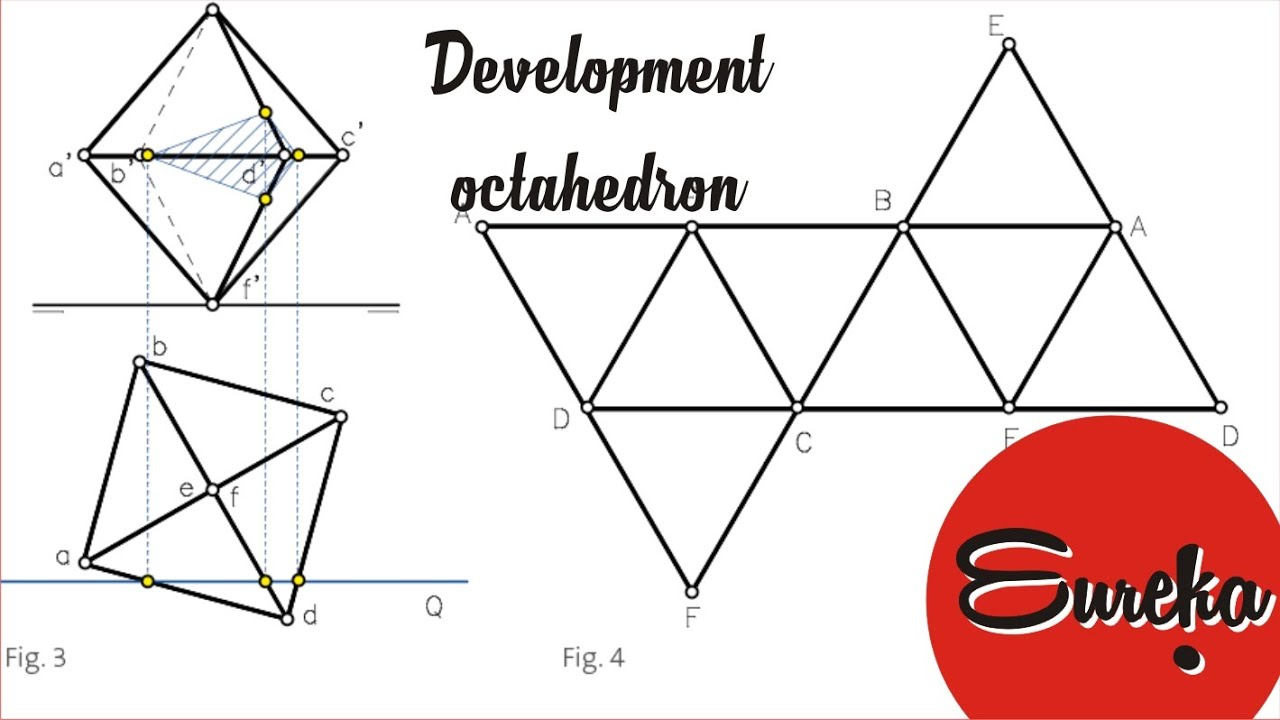 Drawing Tutorial Development Of A Octahedron