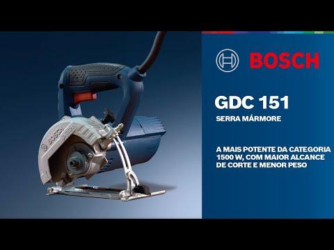 A mais potente da categoria, com maior alcance de corte e menor peso – Serra Mármore GDC 151