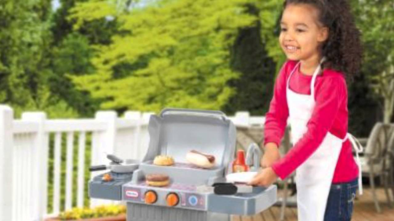 new little tikes cook and grow bbq grill youtube