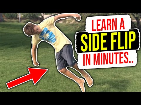 How To Do A Side Flip For Beginners!