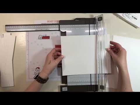 NEW Paper  Trimmer By Stampin' UP & Learn how to cut card bases!