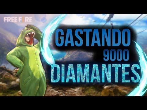 Gastando 9000 Diamantes No Free Fire!!!