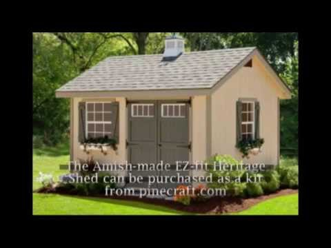 The Amish Made EZ-fit Heritage Shed