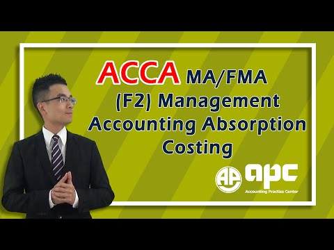 ACCA F2 Management Accounting Absorption Costing Method Overview