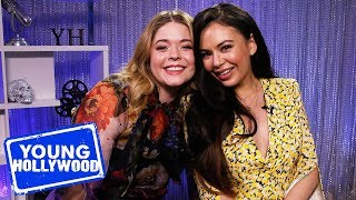 PLL: The Perfectionists' Janel Parrish & Sasha Pieterse Play First & Last!