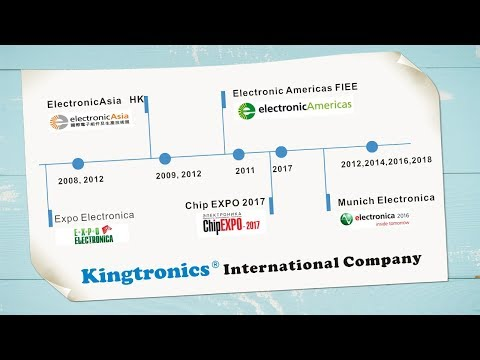 Kingtronics Sales at Exhibitions in Germany, Brazil, HongKong, Russia
