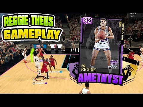 AMETHYST REGGIE THEUS IS A DEMI GOD!! DROPS A DOUBLE DOUBLE!! NBA 2K19 MYTEAM