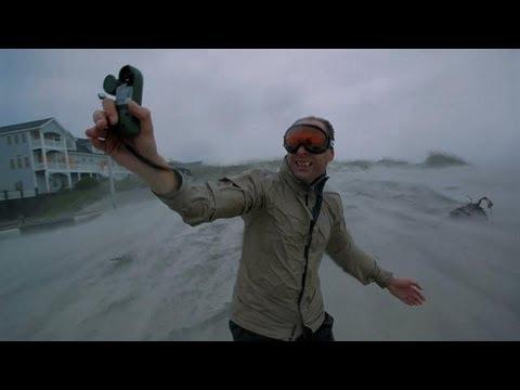 Hurricane Irene Pounds Film Crew | North America