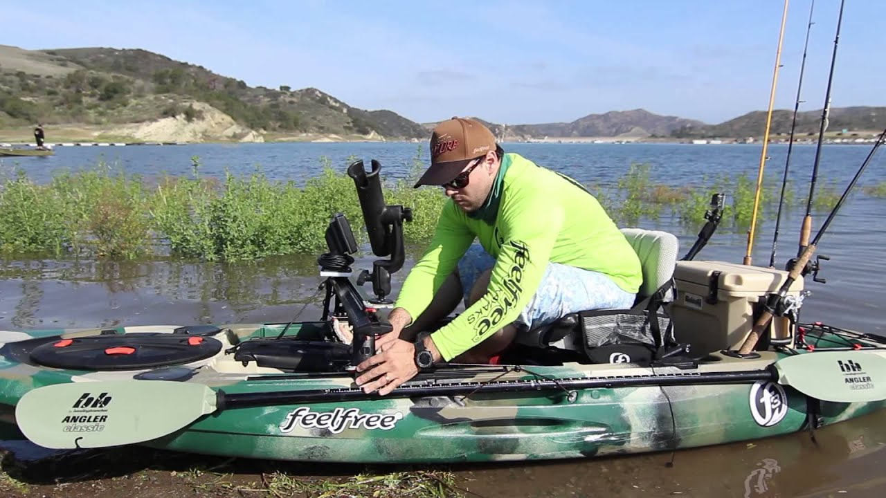 Feelfree lure 11 5 fishing kayak youtube for Feelfree lure 11 5 with trolling motor