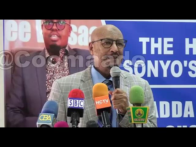"""Guddoomiyaha Xisbiga Ucid Faysal Cali Xuseen Oo Ka Hadlay  In """" Somaliland La kala Jar jarayo"""